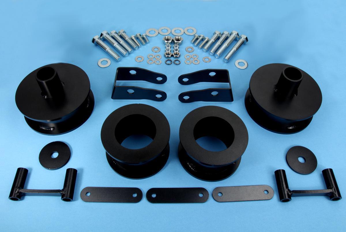 2007 2015 jeep wrangler jk 2 full suspension leveling lift kit shock extenders. Black Bedroom Furniture Sets. Home Design Ideas