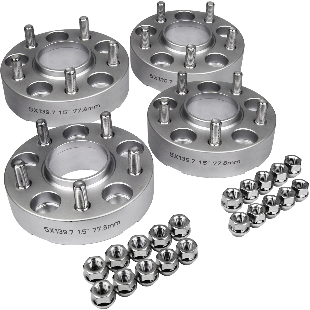 "4PC 1.5"" Inch Wheel Spacers 12-16 Dodge Ram 1500 5-Lug 4wd"