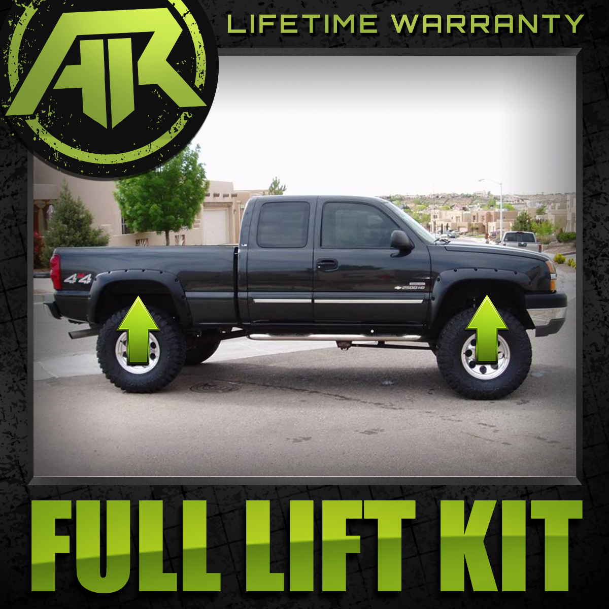 """2/"""" Rear Complete Lift Level Kit Chevy GM 2500 3500 11-19 4X4 Steel 3/"""" Front"""