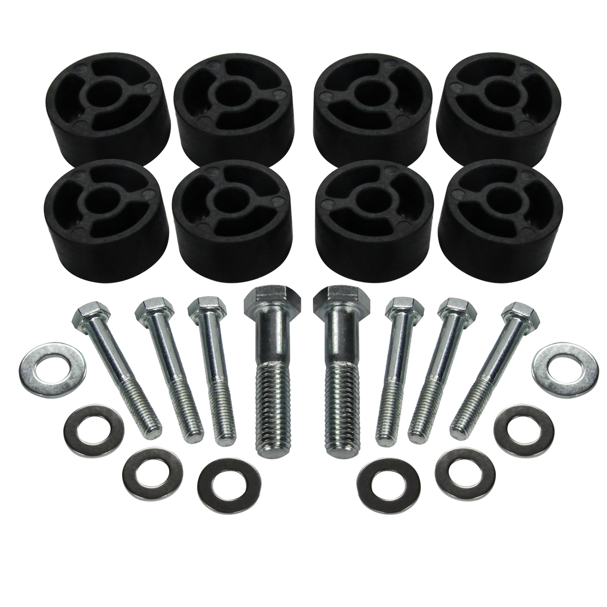 """SR CNC Machined Jeep Wrangler 97-06 Front Seat 1/"""" Risers Lift Spacer Kit BLACK"""