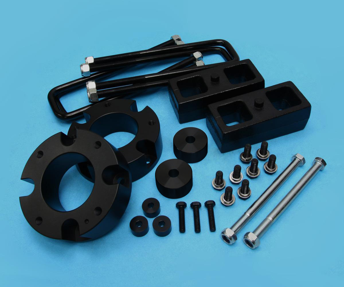 """For 2007 2019 Toyota Tundra Sequoia Aluminum 2 5 Fr Lift: 3"""" FT Billet + 2"""" RR Steel Lift Kit 4WD W/ Diff Drop For"""